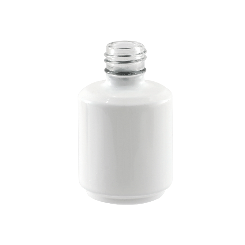 Transparent large round bottle
